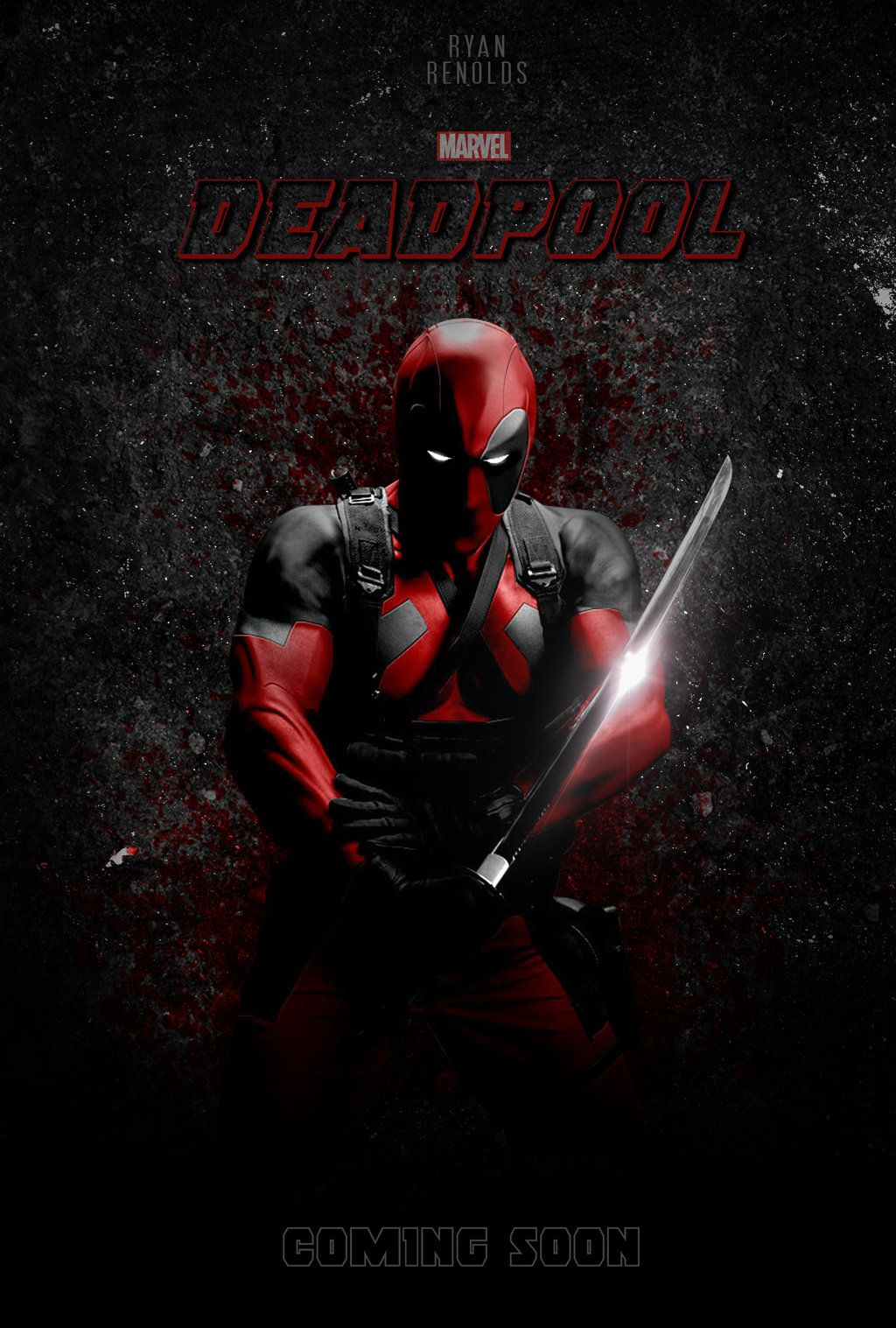 Deadpool fan art deadpool movie poster by iamnerofx - Ryan name wallpaper ...