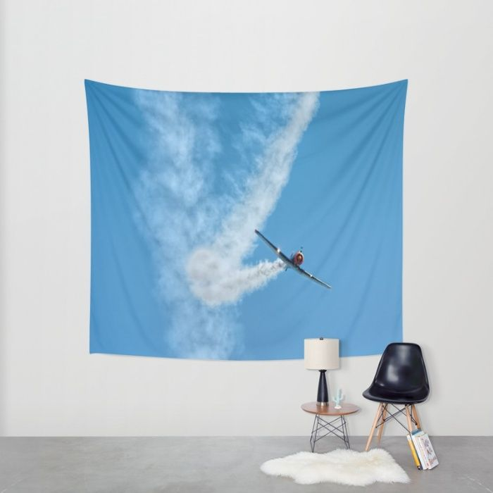 Air show with old military aircraft Wall Tapestry by Tanja Riedel | Society6