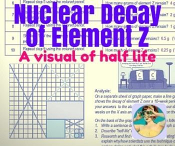 nuclear decay of element z a visual of half life - Periodic Table Z Element