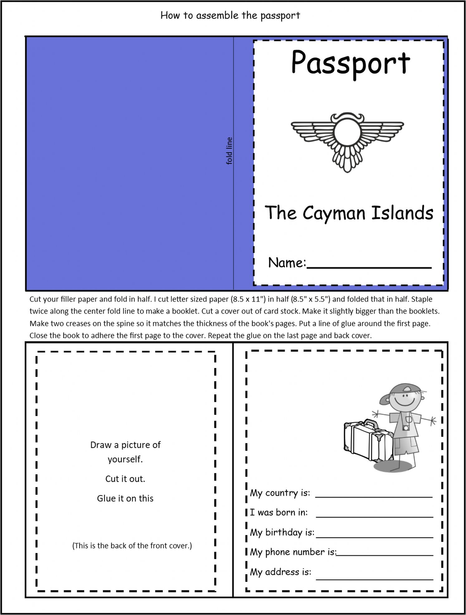 This Passport craft is a fun way for students in grades 1-3 to learn about  thirteen animals that live on the island of Cayman …   Island [ 1969 x 1494 Pixel ]