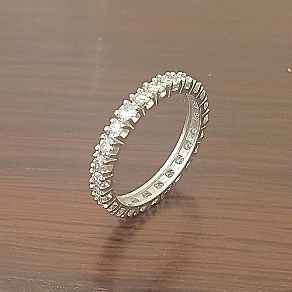 Diamond Wedding Band Eternity Diamond Wedding Ring Vintage
