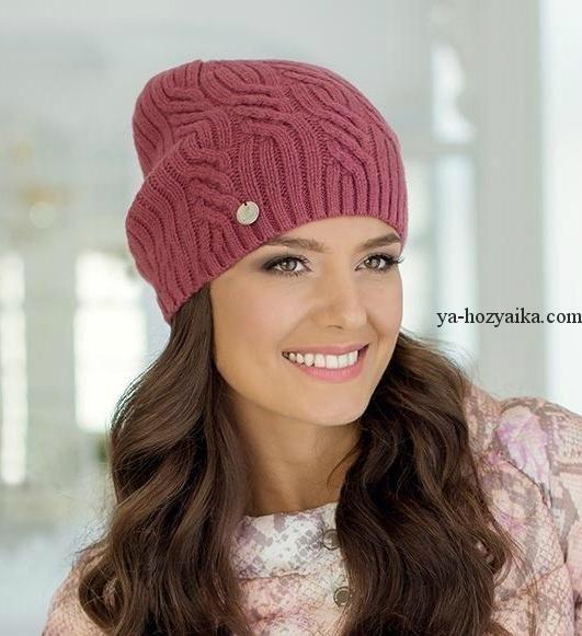 Модная молодежная шапка-бини.. Модные женские шапки: осень ...