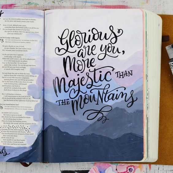 For me, Bible journaling began by simply highlighting scripture in my Bible and writing my thoughts next to the passage. In fact, I did this for a number of years before it evolved into hand lettering my margins. About 6 short months ago I busted out the big guns… paints!