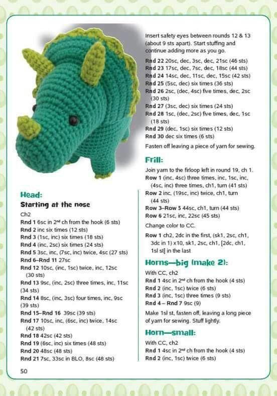 Dino   Dinosaurier #crochetdinosaurpatterns