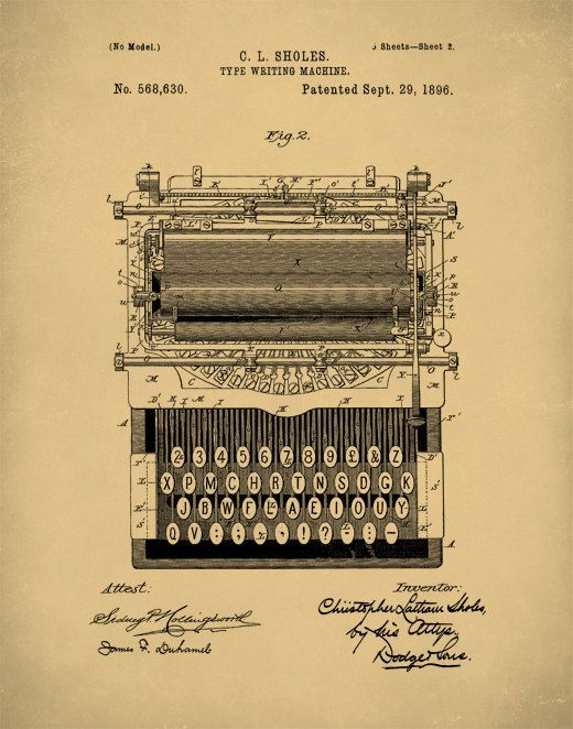 Patent prints typewriter wall art patent art typewriter patent patent prints typewriter wall art patent art typewriter patent poster typewriter blueprint typewriter patent print p86 malvernweather Choice Image