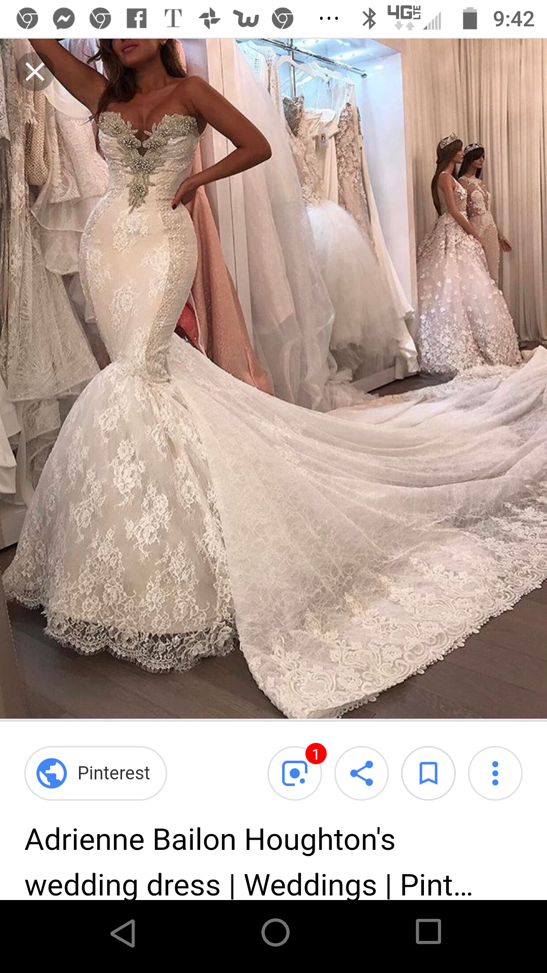 Adrienne Bailon Houghton Wedding Dress Lace Mermaid Wedding Dress Wedding Dresses Vegas Wedding Dress