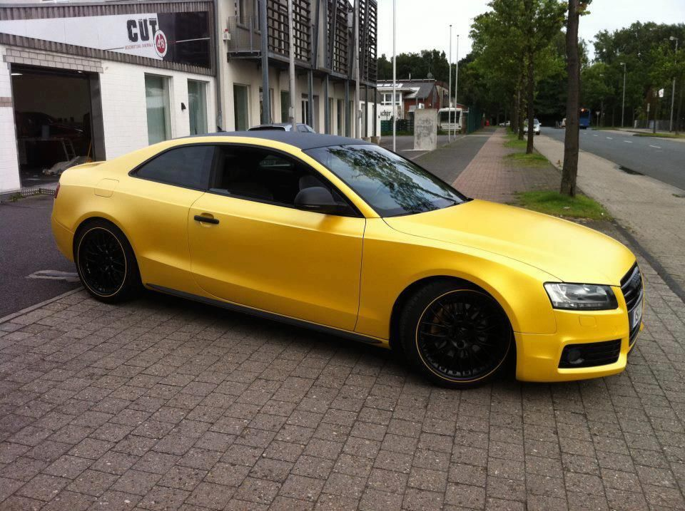 Audi A5 wrapped in yellow matte Audi a5, Audi for sale, Audi