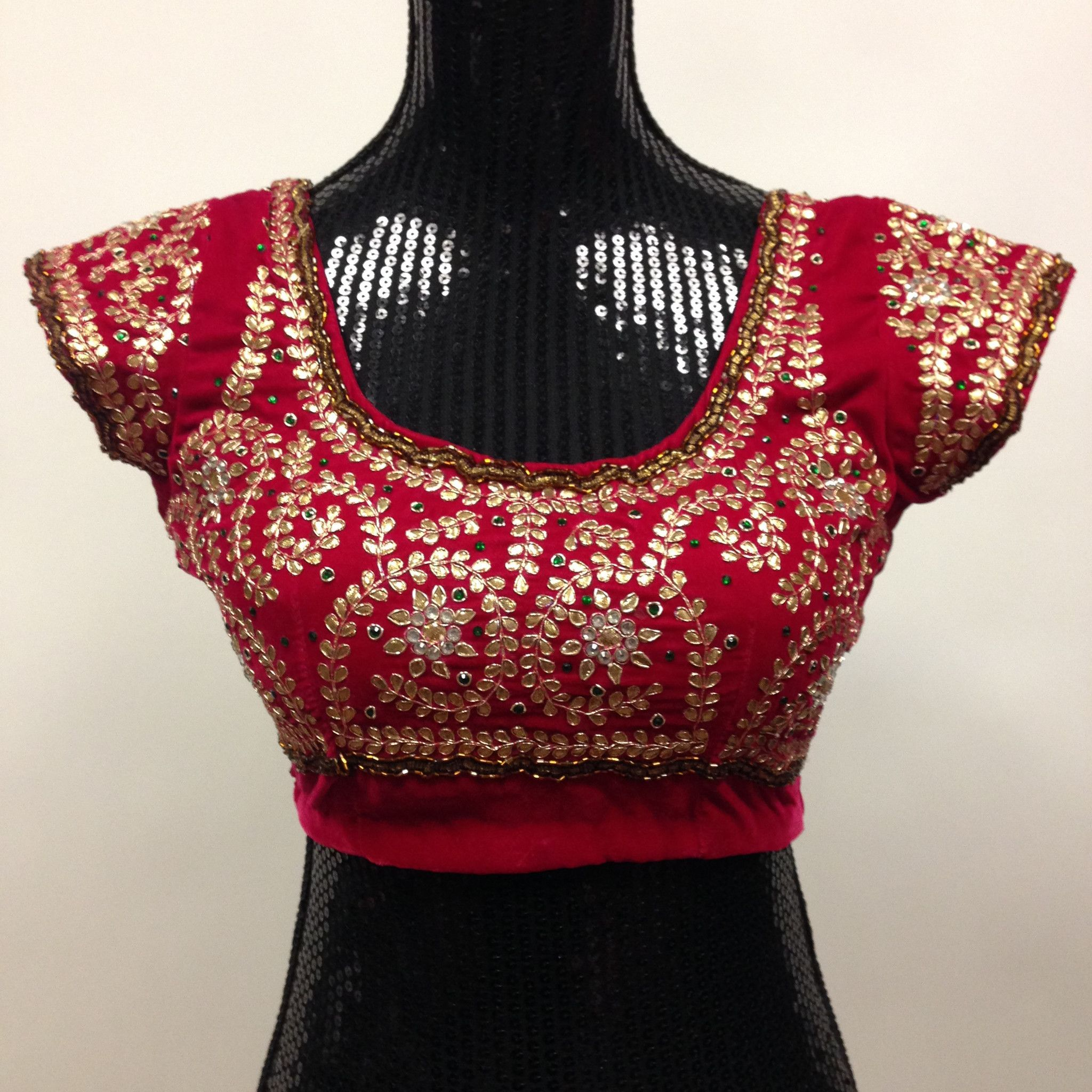 Velevet Gottapati Designer Handmade Blouse - Pink | Designers ...