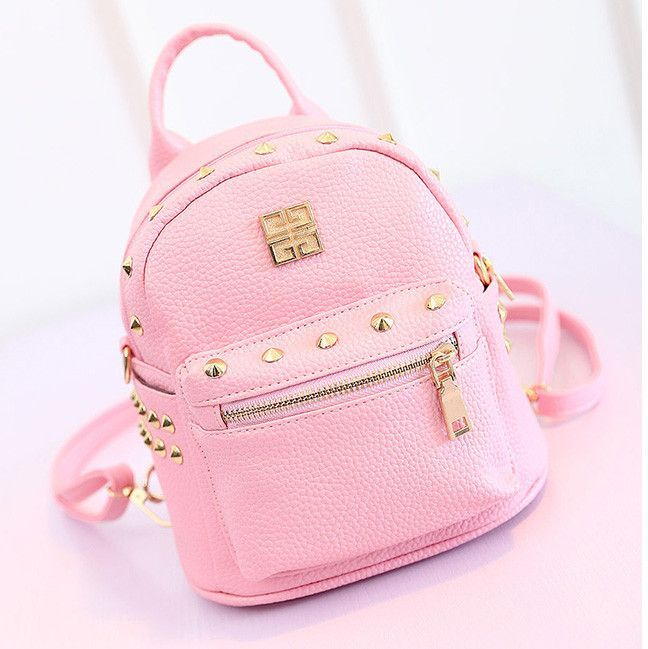 Cute Little Leather Backpack | Cute travel backpacks | Pinterest ...