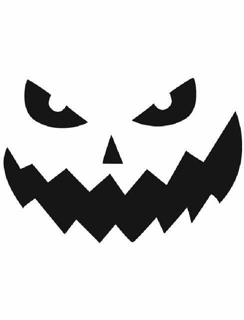 photograph about Jack O Lantern Printable identified as Totally free Printable uncomplicated amusing jack o lantern experience stencils