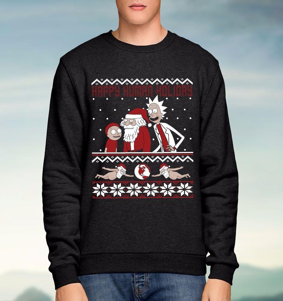 Joblot Wholesale Rick And Morty Happy Human Holiday Black