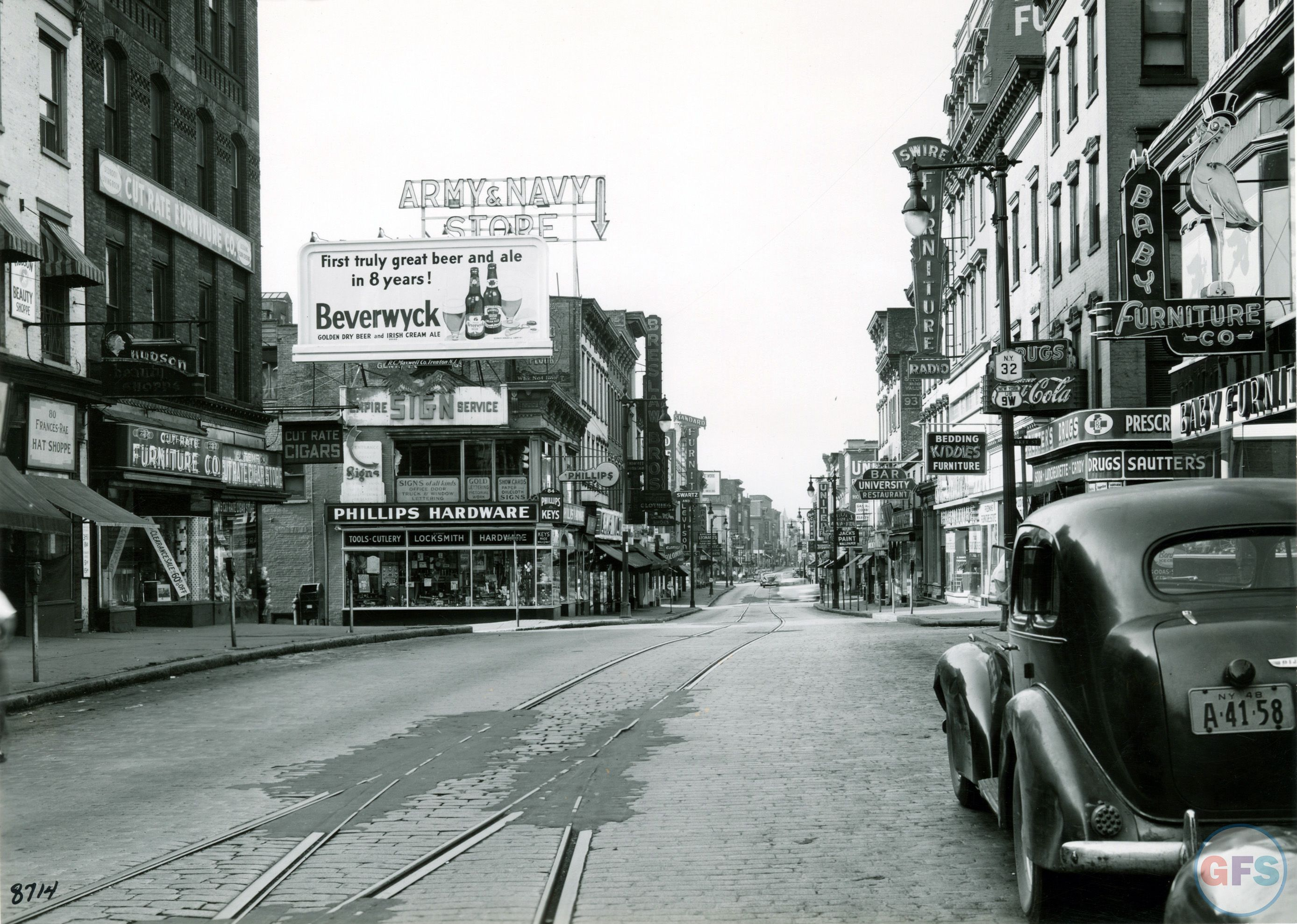 Vintage Photo Of Albany From The Late 1940s Grayflannelsuit Net Albany New York Places To Visit Albany