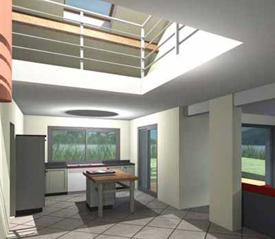 Plan De Maison Contemporaine Avec Mezzanine # 1 | plans ...