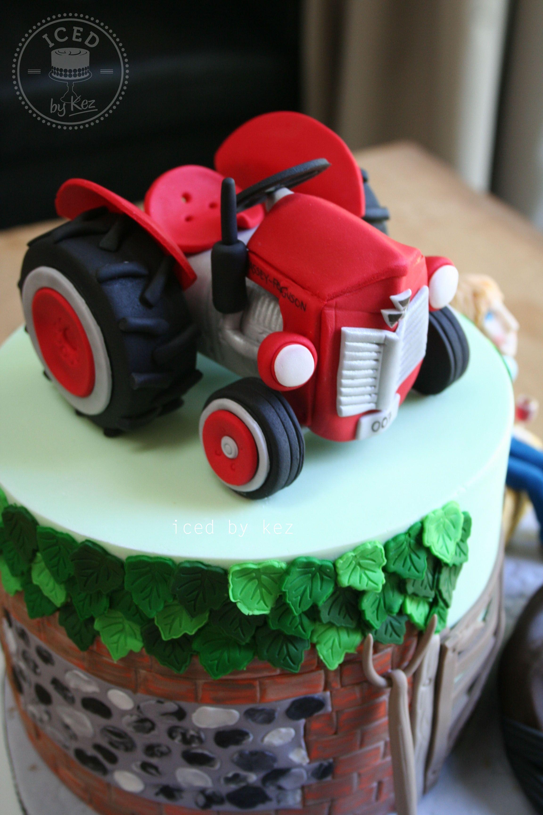 Massey Fergusson Tractor Cake Topper. kez* x | Cake Topper ...