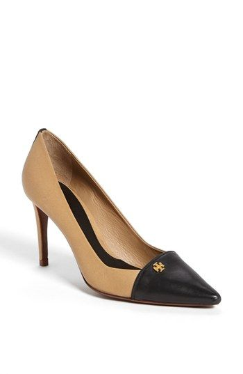 Lovely spectator pump style for a classic woman, in colours to work with a Dark Autumn wardrobe.
