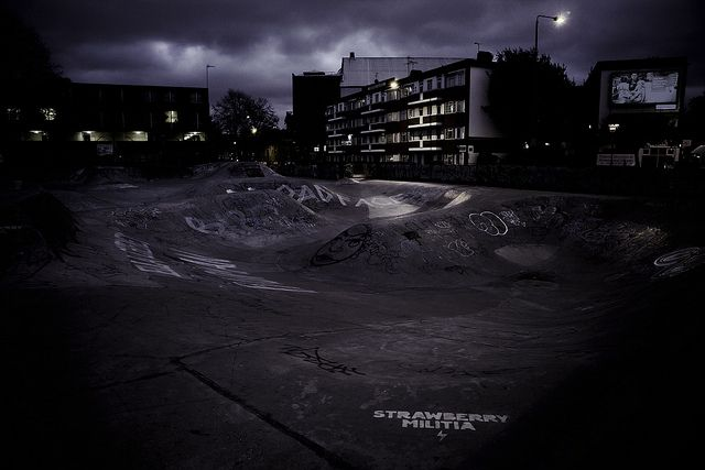 Brixton concrete curves by Emma Jane, via Flickr