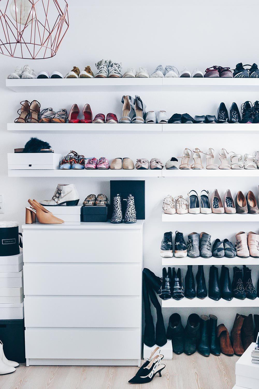 Meine Schuhwand Im Ankleidezimmer Schuhaufbewahrung Diy Schuhwand