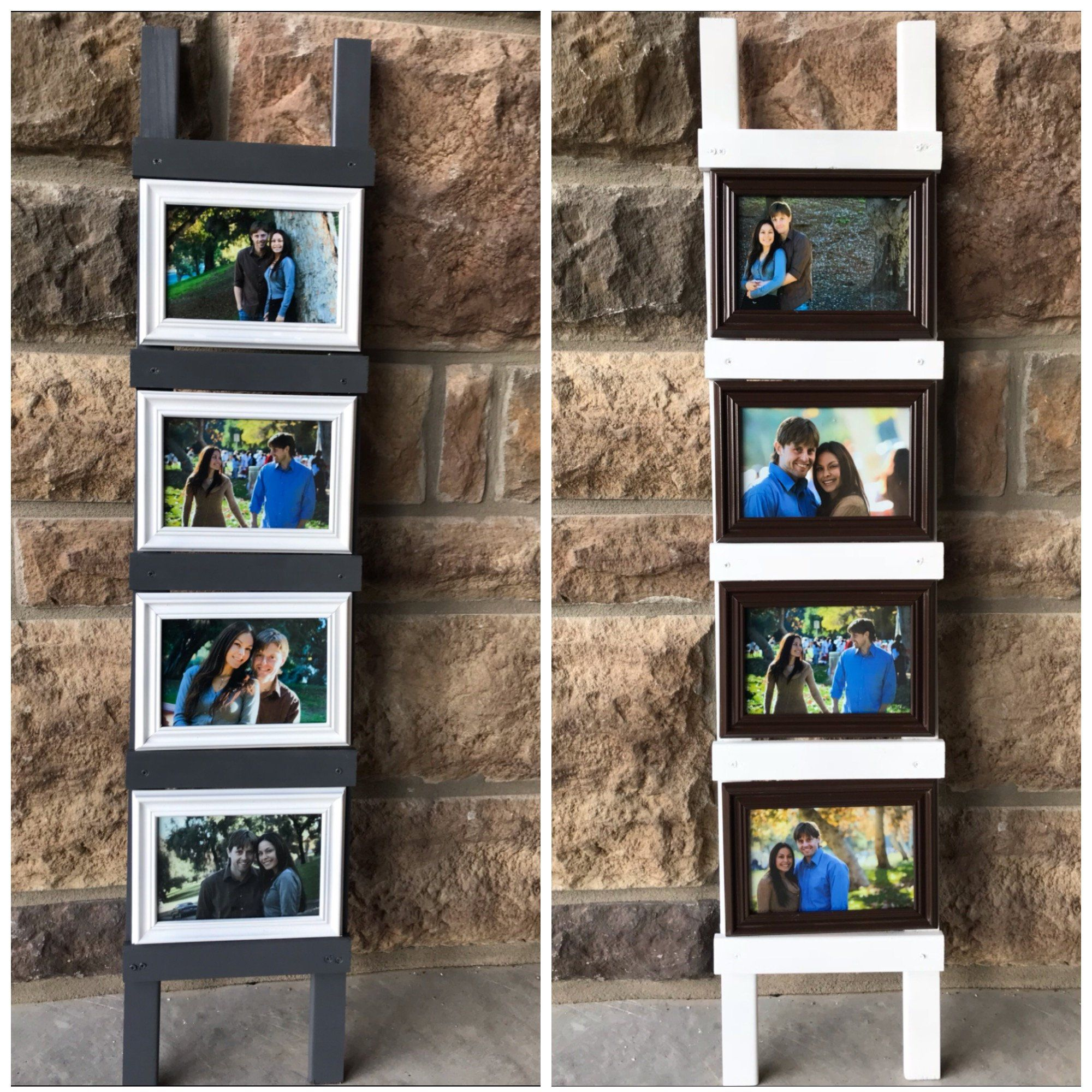 Picture Frame Collage Multi Opening 4x6 0r 5x7 Ladder Picture Etsy Framed Photo Collage Collage Frames 5x7 Picture Frames