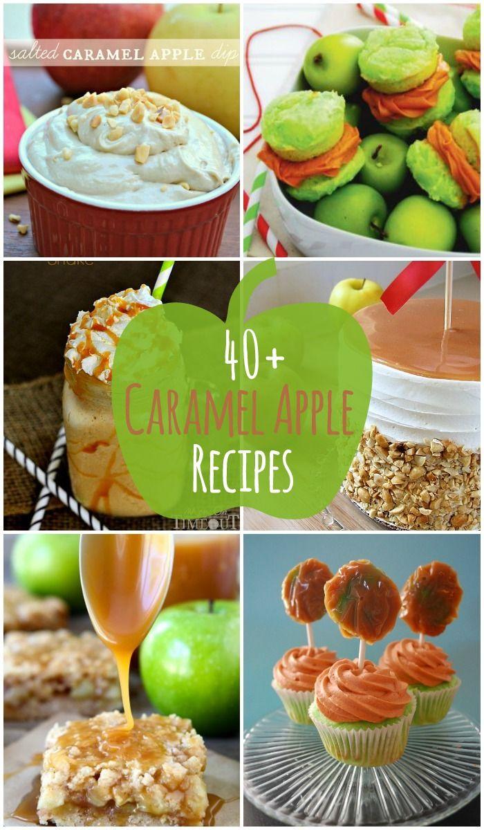 40+ Caramel Apple Recipes - tons of delicious recipes containing caramel apples, from cupcakes to shakes!! { lilluna.com }