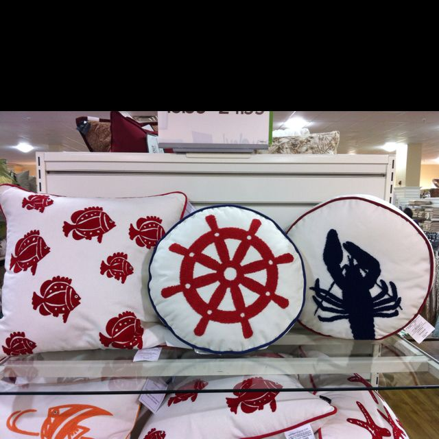 Nautical Pillows! Look For These At Home Goods