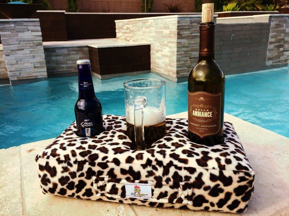 floor beach and more! Keep your drinks close and prevent spills - The worlds BEST cup holder Use it anywhere-Couch car park Cup Cozy Pillow man cave RV Brown bed