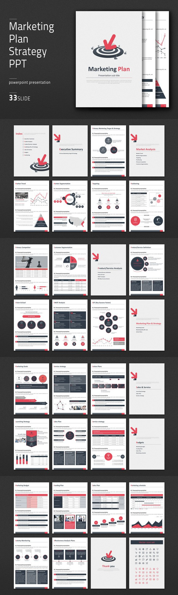 Marketing Plan Strategy PPT Vertical | Presentation templates ...