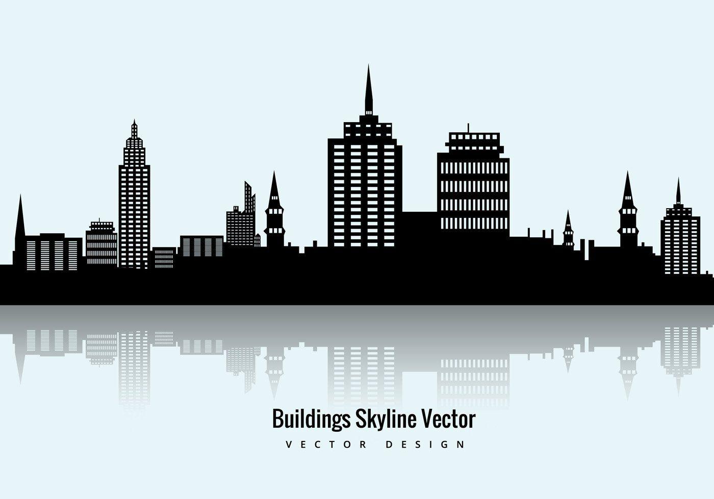 Buildings Skyline Vector Vector Graphic — skyscraper ...
