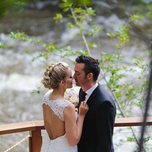 Kisses By The Creek. #colorado #boulder #weddingday #love