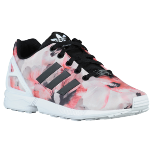 d376828929a1 adidas Originals ZX Flux - Girls  Preschool - Black White Hibiscus Print