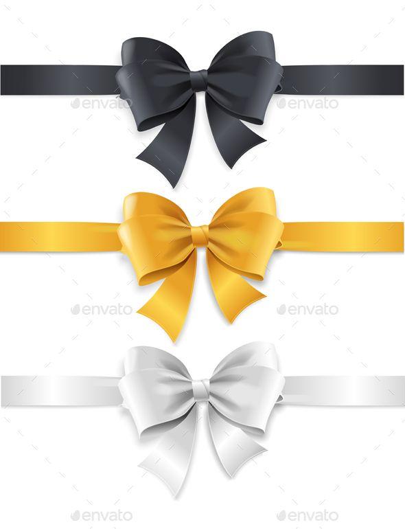 Luxury Bows And Ribbons Set Vector Ribbon Png Bows Ribbon