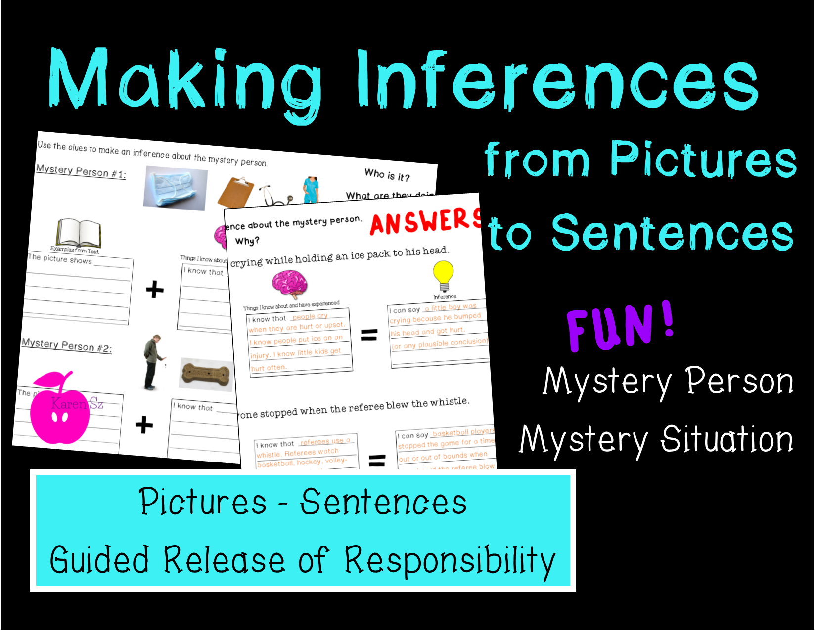 Making Inferences From Pictures And Sentences Making Inferences Reading Comprehension Activities Comprehension Activities