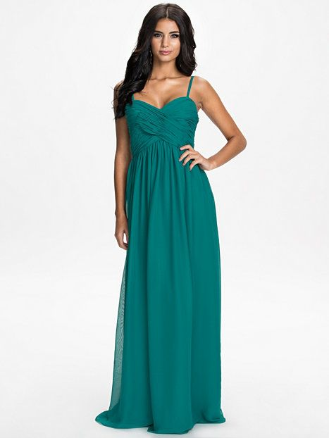 4a274ddec34401 Wrap Bust Long Dress - Petrol - Nelly.com 240 kr