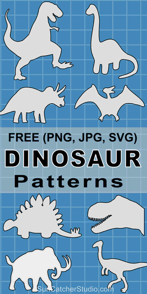 Dinosaur Patterns and Stencils (Printable Templates)
