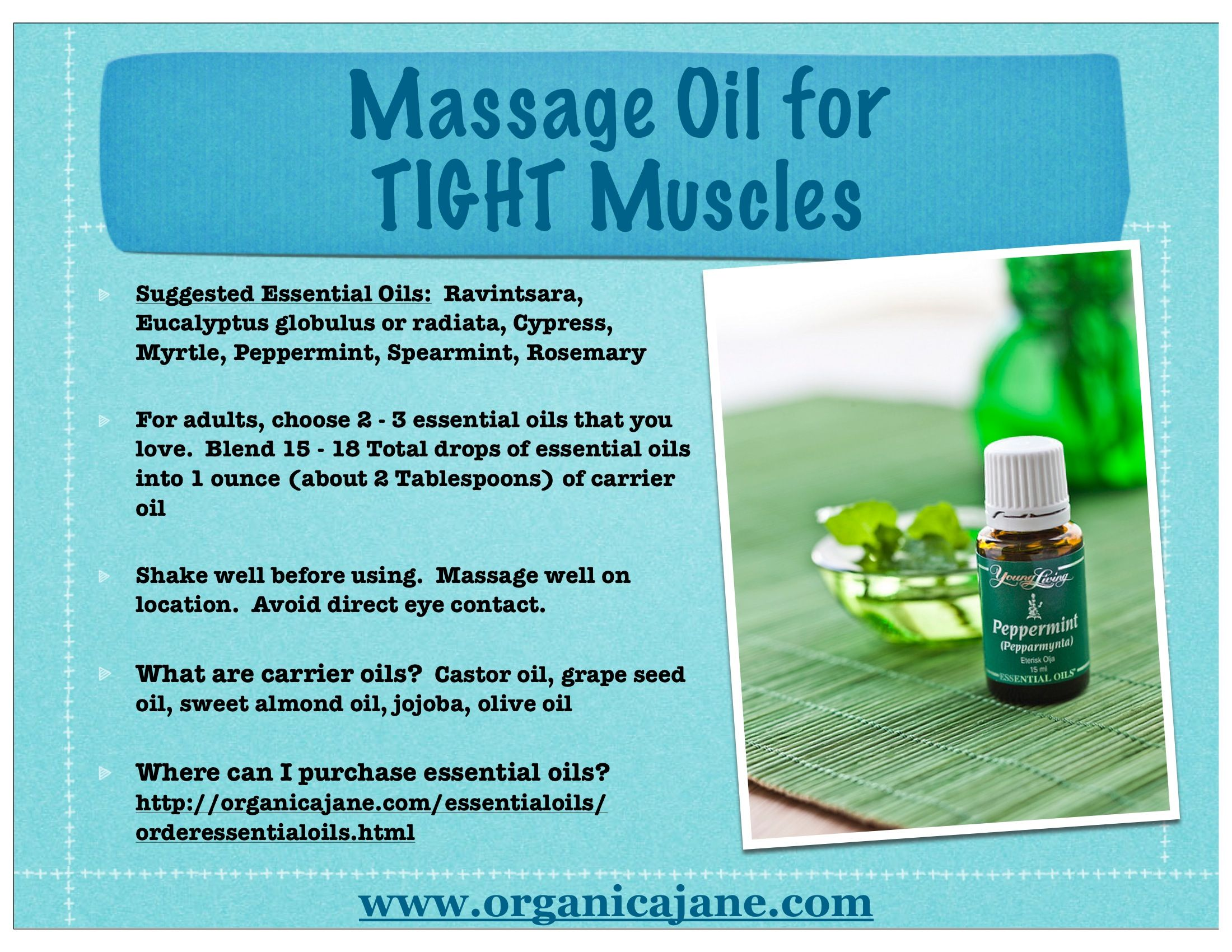 Massage Oil For Tight Muscles Essential Oils Essential Oils