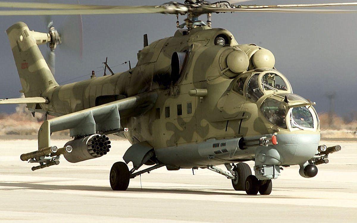 Soviet Mi-24 Hind-D Helicopter