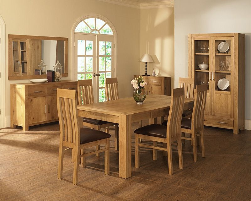 Solid Light Oak Dining Table And Chairs  Go To Entrancing Dining Room Chairs Oak Design Inspiration