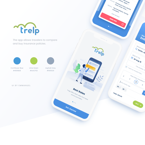 App Design For Travel Insurance Aggregator App Design Contest