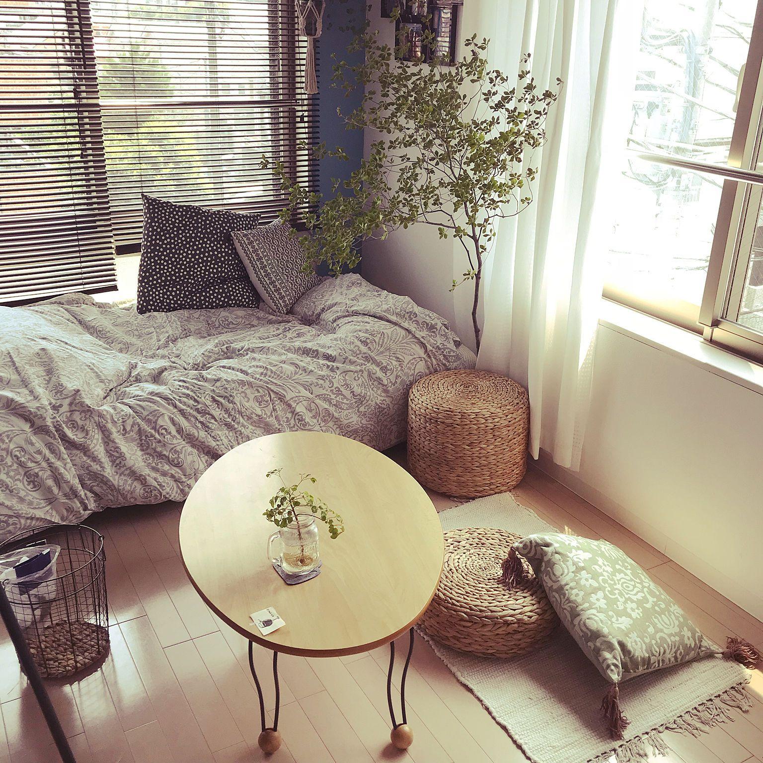 部屋全体 どうだんつつじ 一人暮らし Ikea ワンルーム 6畳 などのインテリア実例 2018 08 05 12 51 51 Roomclip ルームクリップ ワンルームアパートのデコレーション ワンルーム インテリア インテリア 1r