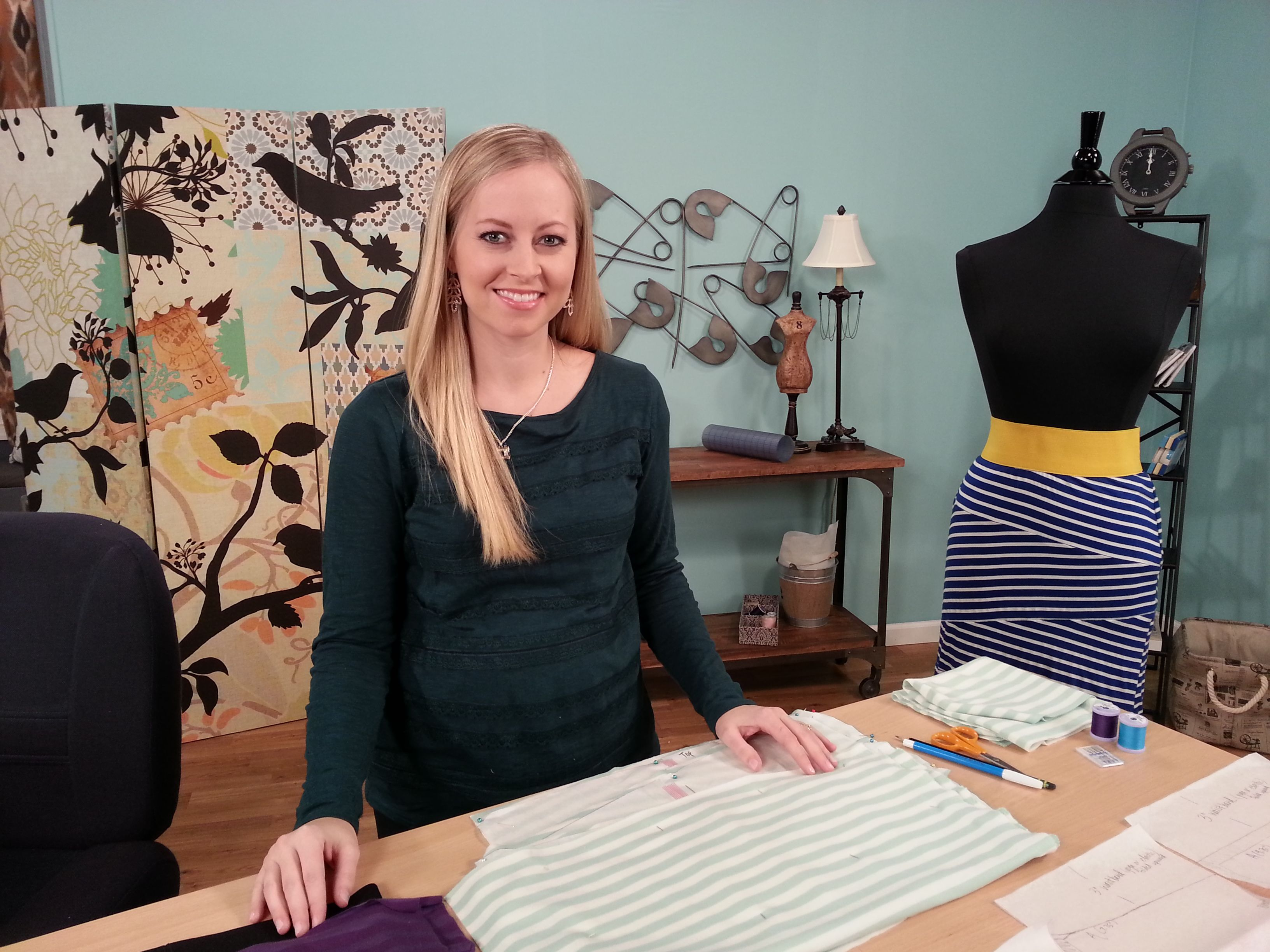 Rachel Howard on the set of It's Sew Easy  View episodes here: www
