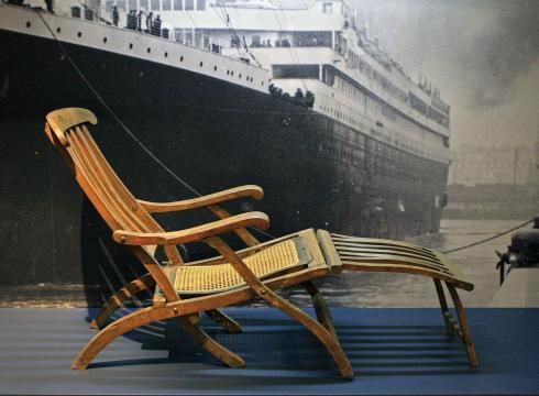 A Rare Original Deck Chair From The Titanic The Signature Artifact Of The Permanent Titanic