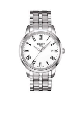 84436ff2cb1 Tissot Men s Classic Dream Men s White Quartz Stainless Steel Watch -  Silver - One Size