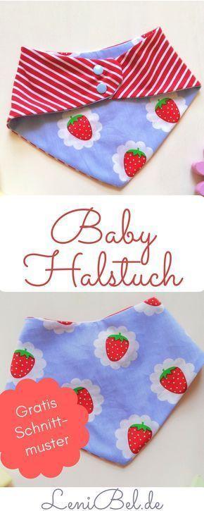 Dreieckstuch/Halstuch für Baby und Kleinkind nähen gratis Schnittmuster in 2 Größen