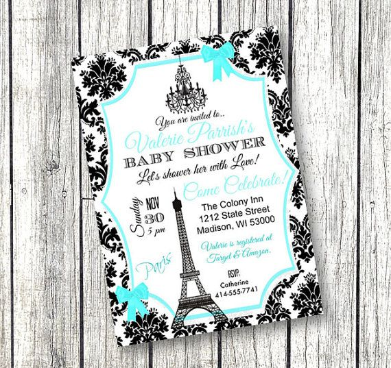 This Listing Is For A Customized, Baby Shower Invitation