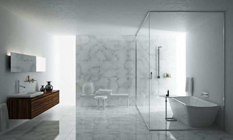 ideen für badezimmerfliesen marmor-stein-grau-weiss-nasszelle-edel - ideen f r badezimmer fliesen