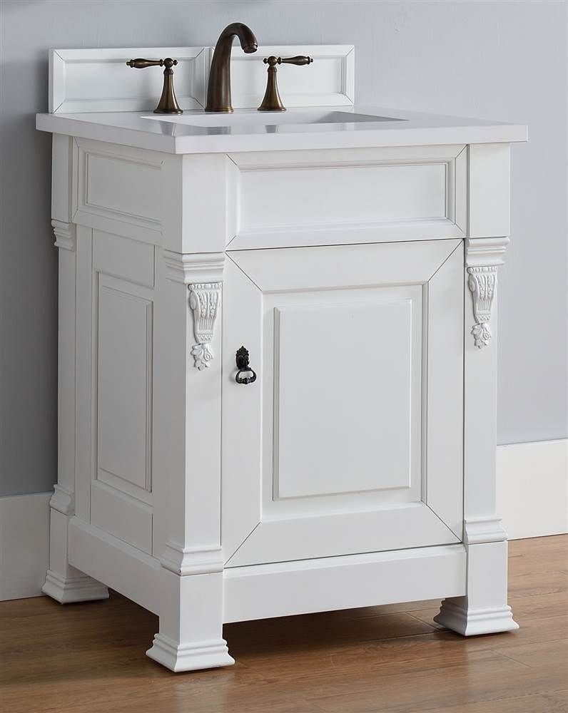 Single Bathroom Vanity With Snow White Quartz Top Id 3495893