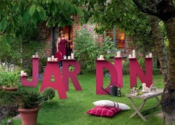 mot jardin en lettres gantes - Pinterest Jardin