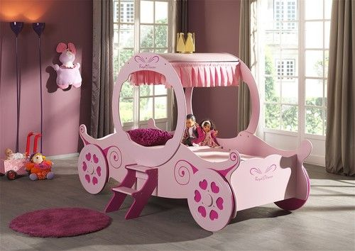 The Royal Princess Bed Make Your Daughter A Real Princess With Her Very Own Royal Princess Carriage Carriage Bed