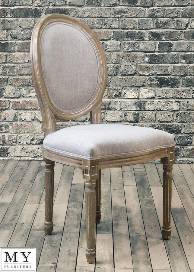 Beaumont French Louis Style Shabby Chic Oval Backed Dining Occasional Chair  | Found On EBay