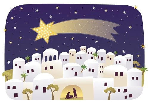 A star appears over Bethlehem