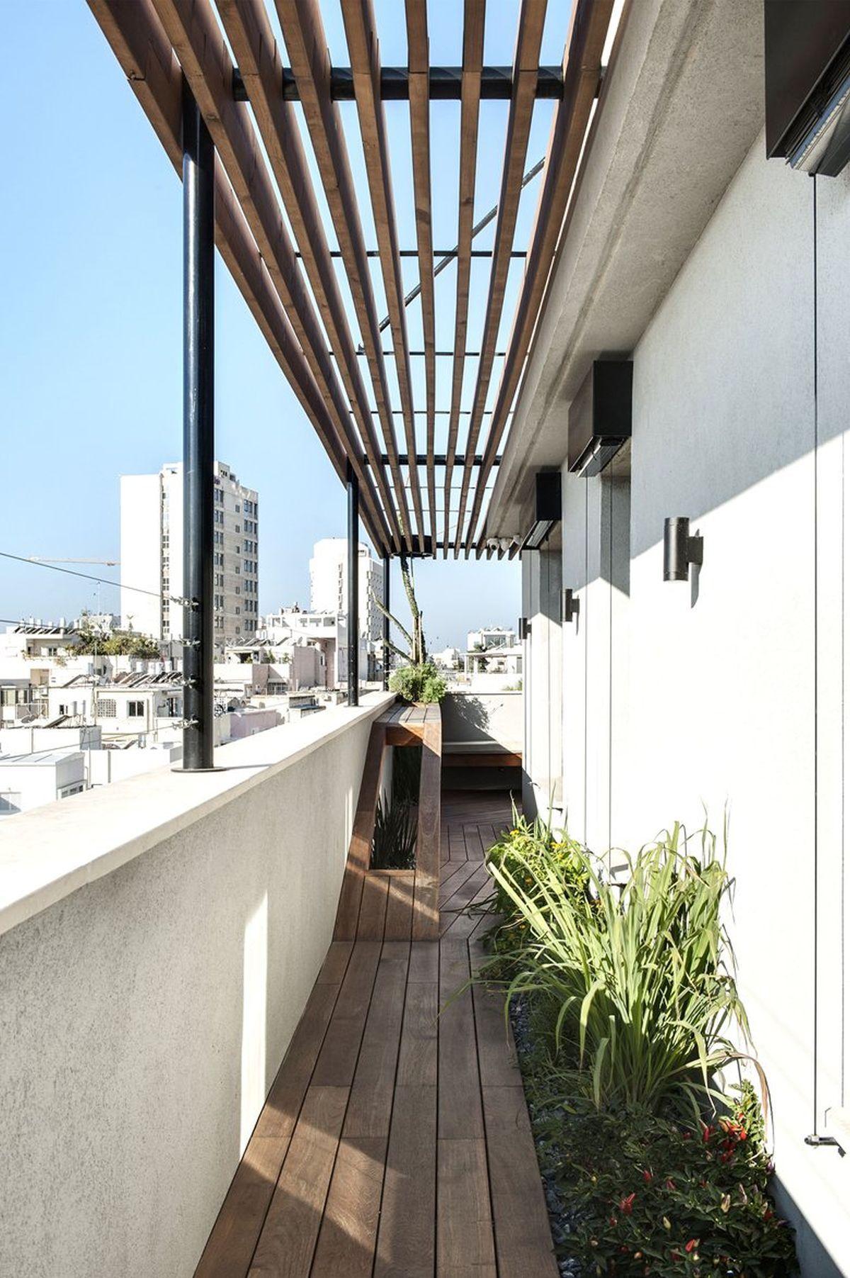Duplex Penthouse Renovation Roof Terrace Wood Floor